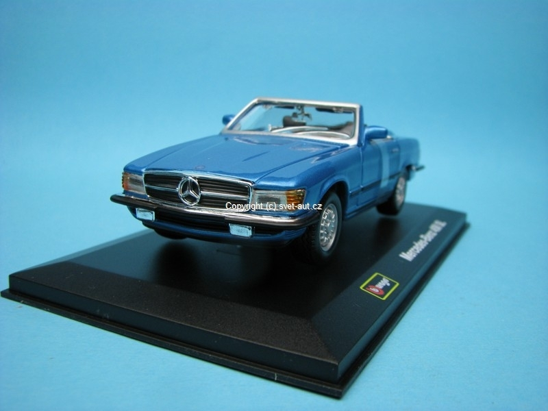 Mercedes-Benz 450 SL blue 1:32 Bburago